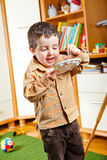 Kid painting Royalty Free Stock Image