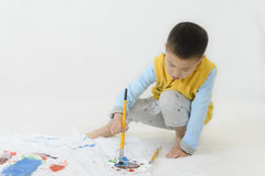 Kid painting Stock Image
