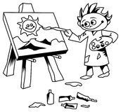 Kid painting Royalty Free Stock Photos