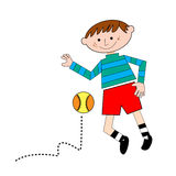 Kid palying with ball Stock Photography