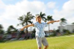 Kid at a park Royalty Free Stock Photography