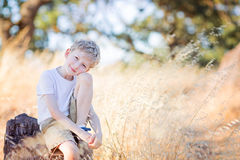 Kid in the park Royalty Free Stock Photo