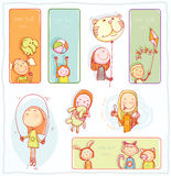 Kid party Banners and Bookmarks, vector illustration. Kid party Banners and Bookmarks, vector illustration Stock Image