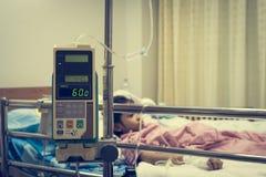 Kid patient in hospital Stock Photos