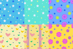 Kid pattern seamless background for your children. Set of Kid pattern seamless background for your children. Vector illustration Royalty Free Stock Photos