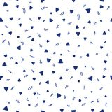 Kid pattern. Seamless pattern with small triangles on a white background. Vector repeating texture. stock illustration