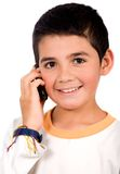 Kid on the phone Royalty Free Stock Image