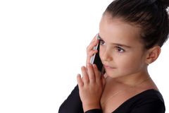 Kid phone Stock Photography