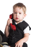 The kid the phone Royalty Free Stock Photography