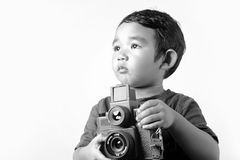 Kid photographer Stock Photo