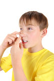 Kid with Pimple royalty free stock images
