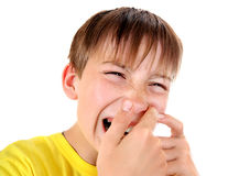Kid with the Pimple Royalty Free Stock Photography