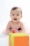 Kid in pink dress Royalty Free Stock Image