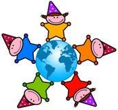Kid planet Stock Image