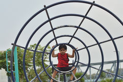 Kid is at play area, ahmedabad Stock Photos