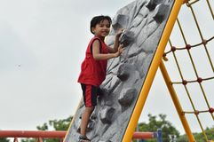 Kid is at play area Royalty Free Stock Photos