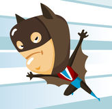 Kid play Bat man Royalty Free Stock Photo