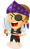 Kid Play Pirate Stock Image
