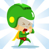 Kid play Superhero Royalty Free Stock Image