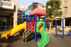 Kid playground. The kid playground between chinese building Royalty Free Stock Photography