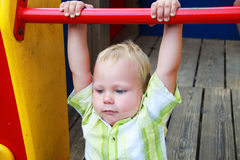 The kid in the playground Royalty Free Stock Photos