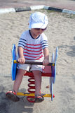 Kid at Playground Royalty Free Stock Image