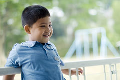Kid with playground background Royalty Free Stock Photo