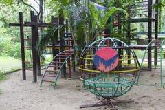 Kid playground in the garden Stock Photo