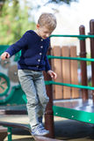 Kid at the playground Royalty Free Stock Image