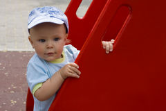 Kid at playground Stock Photography