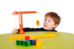 Kid playing Stock Photography