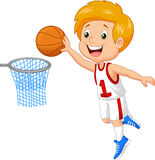 Kid playing basket Stock Photo