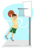 Kid playing basketball Stock Images