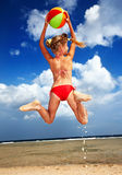 Kid  playing on  beach. Stock Photography