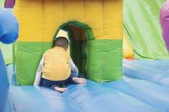 Kid playing hiding seek game Royalty Free Stock Images