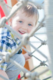 Kid is playing in park Stock Image