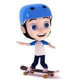 Kid playing skateboard Stock Image