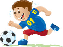 Kid playing Soccer Royalty Free Stock Photography
