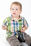 Kid playing in the studio Stock Image