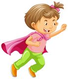 A Kid Playing Superhero Role. Illustration Royalty Free Stock Images