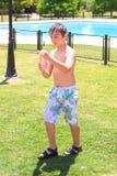 Kid playing Stock Image