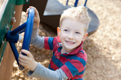 Kid at the playround Royalty Free Stock Images