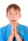 Kid pleading Stock Image