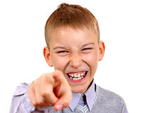 Kid Pointing at You Stock Image