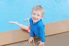 Kid at the pool Royalty Free Stock Image