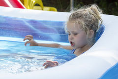 Kid in pool Royalty Free Stock Photography