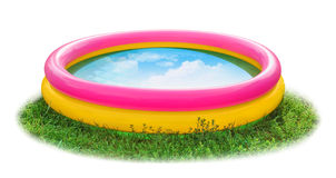 Kid Pool on grass Stock Photo