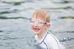Kid in the pool Stock Photography