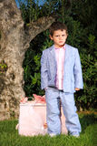 Kid portrait. Kid fashion style portrait outdoor Royalty Free Stock Photography