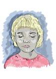 Children Portrait Illustration Stock Images